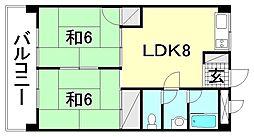 松山南ハイツ[103 号室号室]の間取り