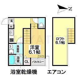 愛知県名古屋市南区桜本町2丁目の賃貸アパートの間取り
