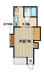 東京都練馬区南大泉3の賃貸アパートの間取り