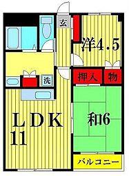 サンライトシーマ[2階]の間取り
