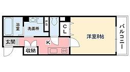 兵庫県西宮市北口町の賃貸マンションの間取り