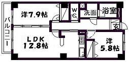 佐鳴湖パークタウンサウス[1305号室]の間取り