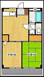ヴァンヴェール湘南台1[2階]の間取り