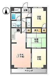 スクエア25[5階]の間取り