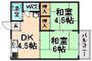 兵庫県伊丹市行基町4丁目の賃貸アパートの間取り