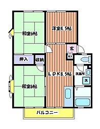 コンフォートイーストA[2階]の間取り