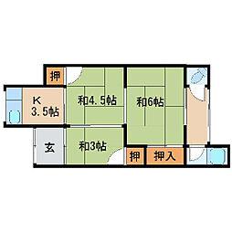 福島アパート[3号室]の間取り