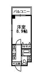 福岡県福岡市博多区古門戸町の賃貸マンションの間取り