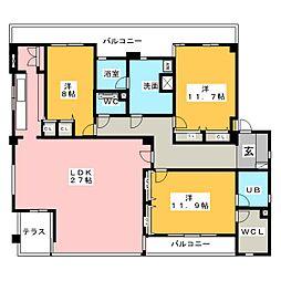 コンソロールI[3階]の間取り
