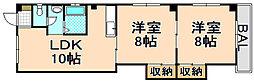 兵庫県伊丹市山田5丁目の賃貸マンションの間取り