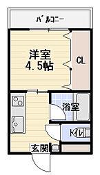エルメス土居[3階]の間取り