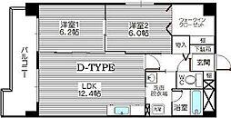 エスティグリーン箱崎[3階]の間取り