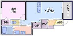 サンガーデンM3[1階]の間取り