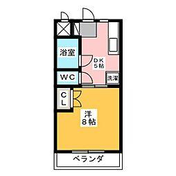 マンションリーフII[4階]の間取り