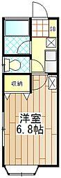 神奈川県厚木市幸町の賃貸アパートの間取り