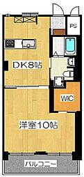 プレオール堺東[2階]の間取り