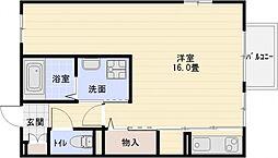 メゾンカムス[2階]の間取り