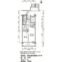 稲毛海岸駅前プラザ[6-402号室]の間取り