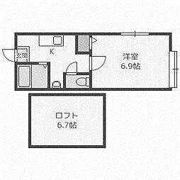 ラフィネ[2階]の間取り