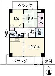 燦・宗太郎[6階]の間取り