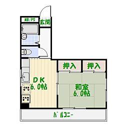 八田ビル[3階]の間取り