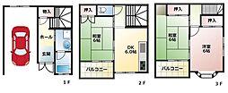 [一戸建] 大阪府八尾市老原5丁目 の賃貸【大阪府 / 八尾市】の間取り
