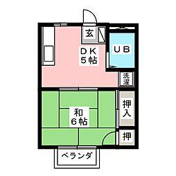 ドミールマキ[2階]の間取り