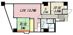 ロワールマンションアール板付 壱番館[707号室]の間取り