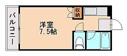 リベルテ西片江[1階]の間取り