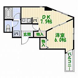 アクロポリス亀有[3階]の間取り
