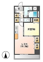 プレステージ新栄[12階]の間取り