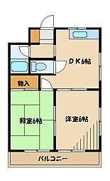 ボナール南台[3階]の間取り