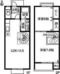 [テラスハウス] 愛知県豊川市上野2丁目 の賃貸【/】の間取り