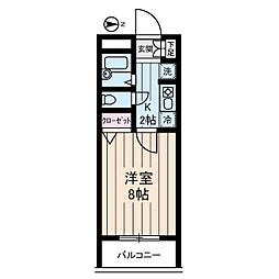 ヴィレッジ・イン・富士見丘[6階]の間取り