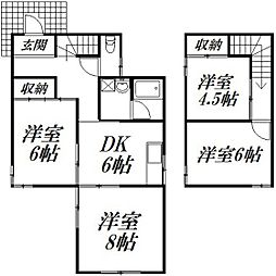 [一戸建] 静岡県浜松市中区葵西4丁目 の賃貸【/】の間取り
