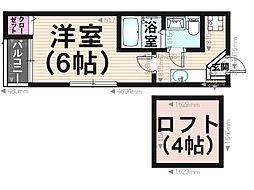 シャローム井尻Ⅱ[2階]の間取り