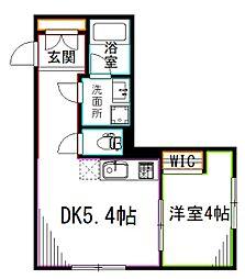 JR中央本線 荻窪駅 徒歩10分の賃貸アパート 1階1DKの間取り