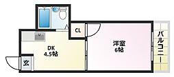 大阪府大阪市平野区平野本町2丁目の賃貸マンションの間取り