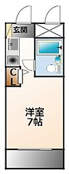 ハイツシャローム[5階]の間取り