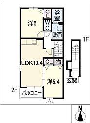 ベルカーサ[2階]の間取り