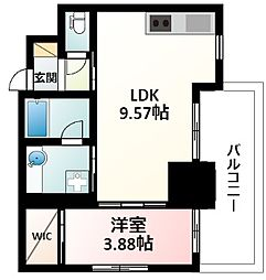 Osaka Metro御堂筋線 江坂駅 徒歩5分の賃貸マンション 7階1LDKの間取り