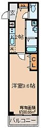 A-mon観月橋NIFUN 1階1Kの間取り