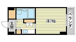 飾磨中村コーポ[4階]の間取り