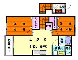 リゾートハイム[2階]の間取り