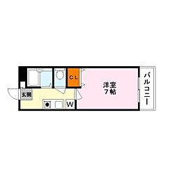横山第10マンション[4階]の間取り