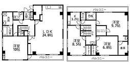 京成本線 堀切菖蒲園駅 徒歩8分の賃貸マンション 4階4SLDKの間取り