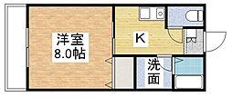 福岡県宗像市自由ヶ丘4丁目の賃貸アパートの間取り