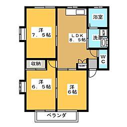 ユニバースハイツA[2階]の間取り
