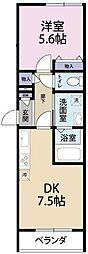 西船橋駅前マンション[2階]の間取り