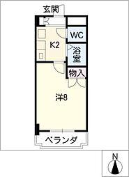 弐番館[2階]の間取り